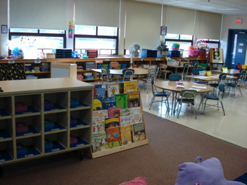 Reading Area #4 and Cubbies